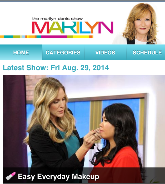 Live Makeup Segments on The Marilyn Denis Show